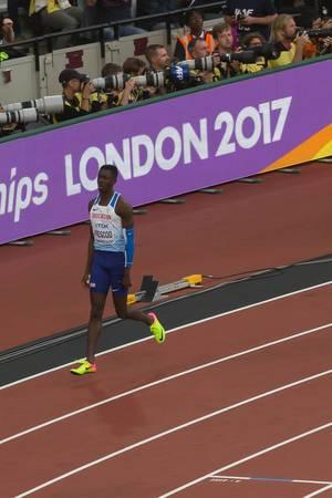 100-Meter-Läufer Reece Prescod bei den IAAF Leichtathletik-Weltmeisterschaften 2017 in London
