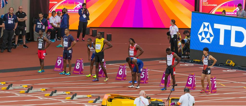 100m Vorlauf mit Bolt