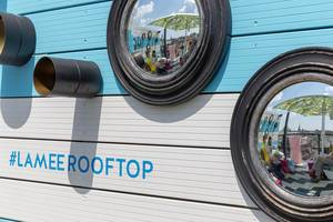 180 degree mirrors at Lamee Rooftop Bar in Vienna