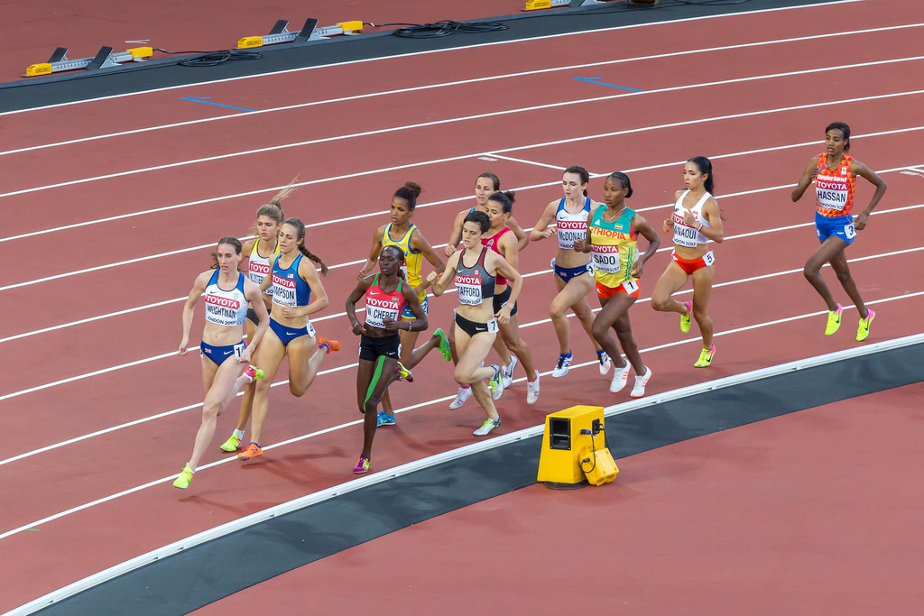 2. Halbfinale über 1500m in London