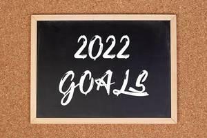 2022 goals on chalkboard
