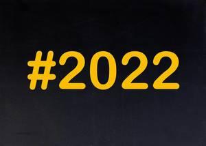 2022 written on chalkboard