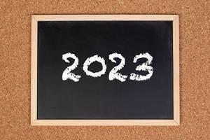 2023 on chalkboard