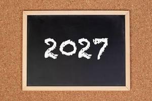 2027 on chalkboard