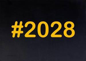 2028 written on chalkboard