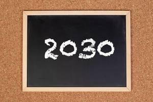 2030 on chalkboard
