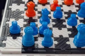 3D gedruckte Schachfiguren