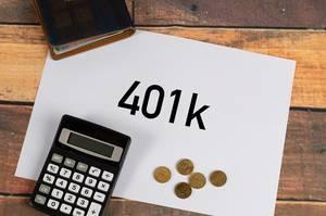 401k written on a paper