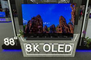 """88"""" 8K Oled von LG mit AI-Bildschirm, Rahmensockel und integriertem 4.2-Soundsystem"""