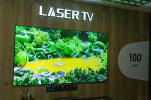 """8K Fernsehen: Hissende Sonic Laser TV 100L5 mit 100"""""""