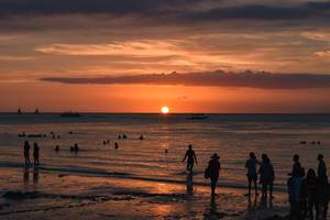 A beautiful sunset view in Boracay (Flip 2019)