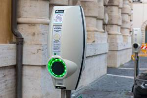 A charging station for e-cars in Rome