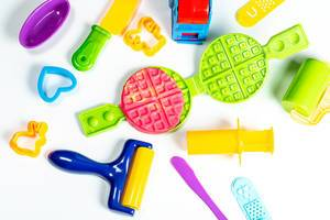 A colourful childrens baking set