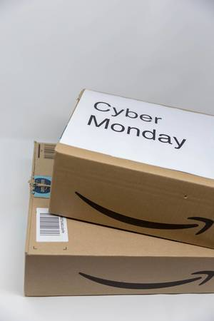 A cyber monday package from amazon
