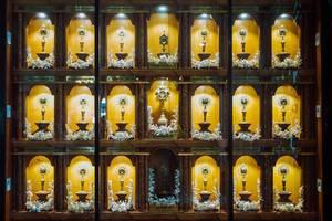 A display of small shrines inside the Sto. Nino Church (Flip 2019)