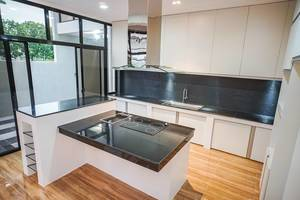 A minimalist modern kitchen design