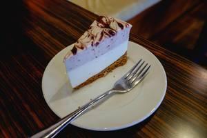 A slice of raspberry cheesecake (Flip 2019)