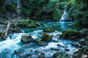 A Small Waterfall and the Cahabon River  Flip 2019