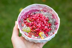 Acai Bowl with Cranberry and Goji