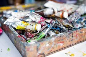 Acrylic paint tubes
