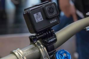 Action Kamera GoPro Hero 7 Black montiert am Fahrrad Bike Lenker