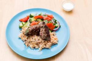 Adana Kebap with Rice