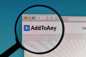 AddToAny website under magnifying glass