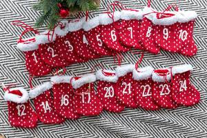 Adventskalender rot Weihnachten