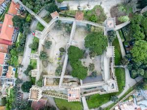 Aerial of Castelo de São Jorge