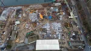 Aerial of Junkyard in Cologne