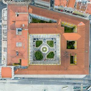 Aerial of Lisboa Story Centre