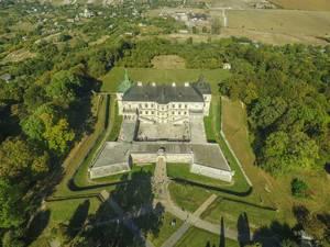 Aerial of pidhirtsi castle