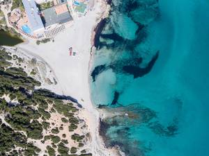 Aerial of Playa de Son Baulo
