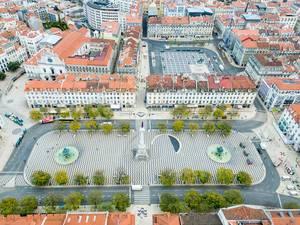 Aerial of Praça D. Pedro IV
