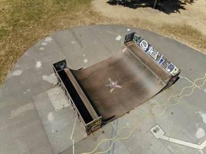 Aerial of Skate Ramp