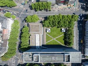 Aerial of Steigenberger Hotel in Cologne