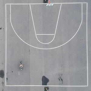 Aerial of Street Basketball