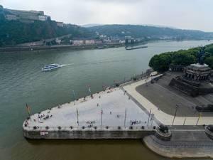Aerial photo of Deutsches Eck in Koblenz