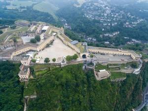 Aerial photography of Ehrenbreitstein Fortress
