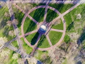 Aerial Photography of Parkman Bandstand at Boston Common