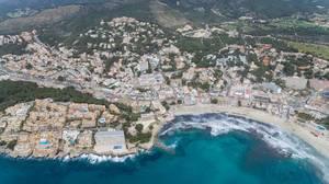 Aerial photography of Peguera, Mallorca