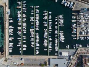 Aerial Photography of Yachts in Can Picafort, Mallorca