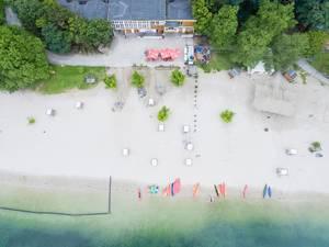 Aerial Photoraphy: Canoes on the Beach