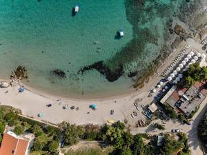 Aerial shot of Afitos beach