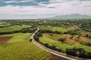 Aerial shot of Sagay national highway (Flip 2019)