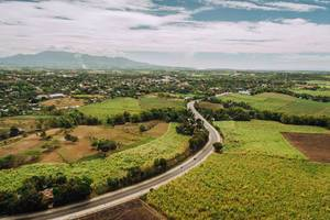 Aerial shot of Sagay national highway