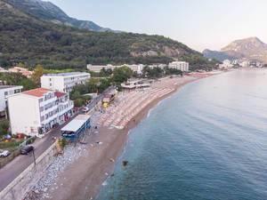 Aerial view of Sutomore Beach in Montenegro (Flip 2019)