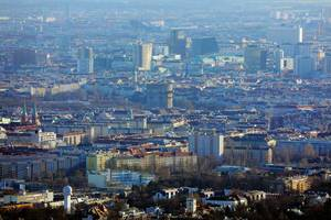 Aerial view of Vienna, Austria