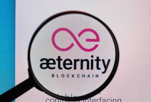 Aeternity logo under magnifying glass