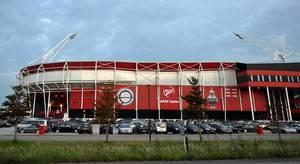 AFAS stadium of dutch football team AZ Alkmaar on a cloudy day